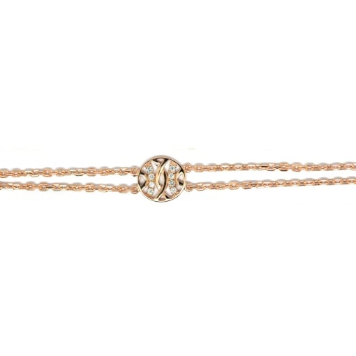 Babbette Wasserman Rose Gold Plated Silver and Cubic Zirconia Espalier Bracelet