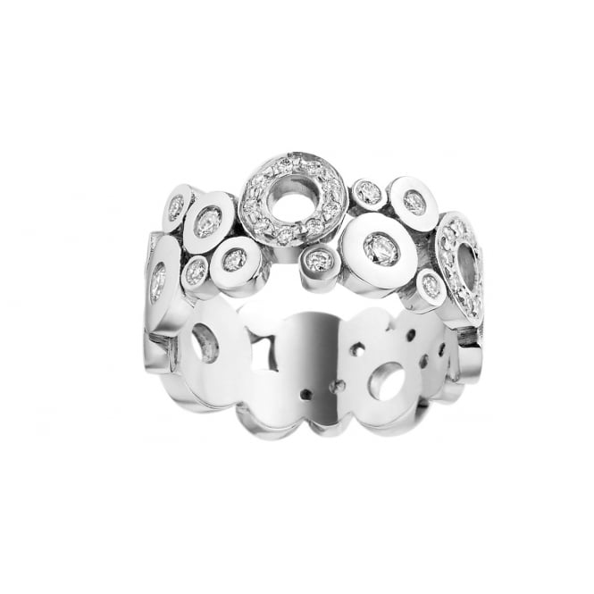 Brown & Newirth 18ct White Gold Diamond Band