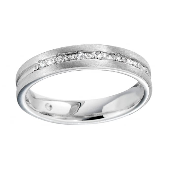 Brown & Newirth 18ct White Gold Ring with Diamonds