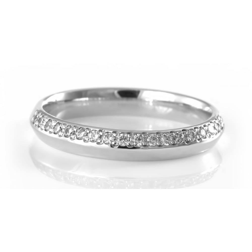 Brown Newirth 18ct White Gold Wedding Ring with Diamonds Ladies