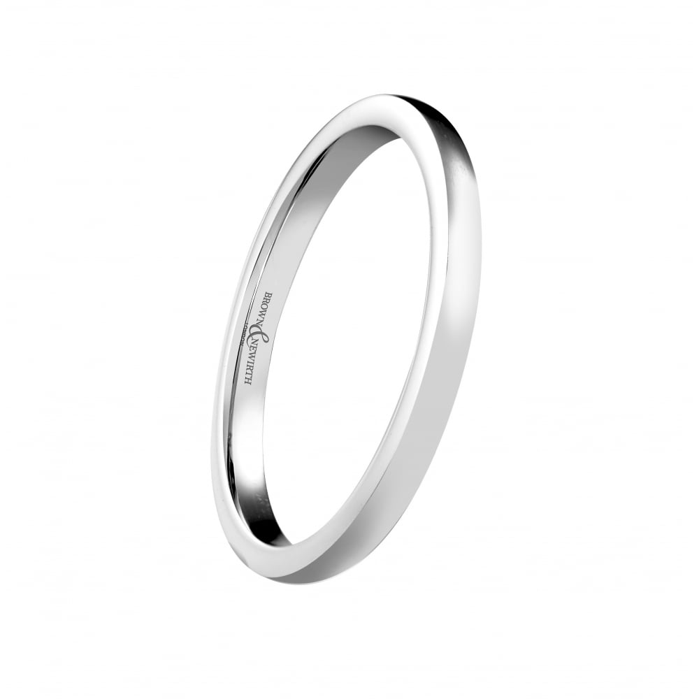 b9b7718ecb6af 9ct White Gold Plain Wedding Ring