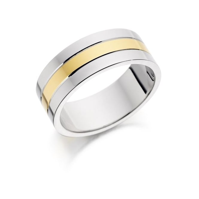 Brown & Newirth 9ct Yellow and White Gold Band