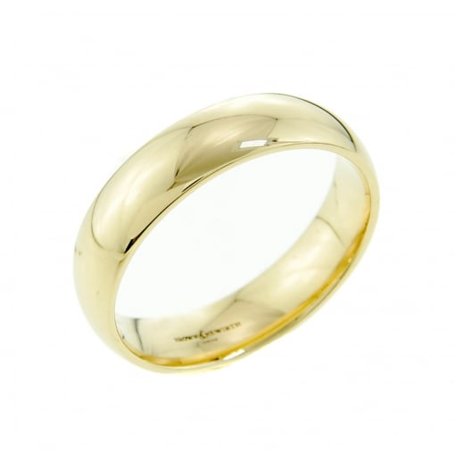 Brown & Newirth 9ct Yellow Gold 6mm Court Shaped Wedding Ring