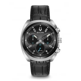 Curv Chronograph with Black Leather Strap