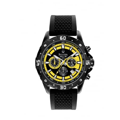 Bulova Gents Marine Star Chronograph on Rubber Strap