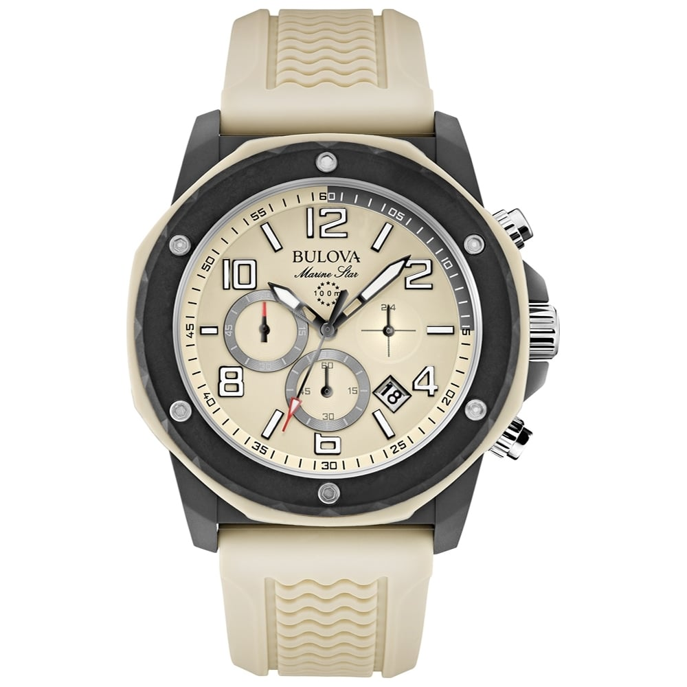 ff4560078 Bulova Marine Star Chronograph with Beige Rubber Strap. - Watches ...