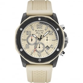 Marine Star Chronograph with Beige Rubber Strap.