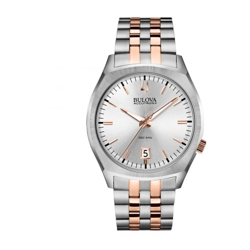 Bulova Men's AccutronII with Stainless Steel Bracelet and Rose Accents
