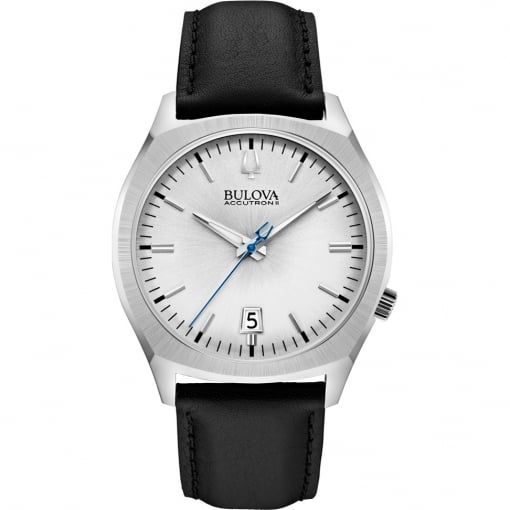 Bulova Stainless Steel Accutron II Watch with Leather Strap
