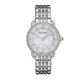Stainless Steel Bracelet Watch with Diamonds