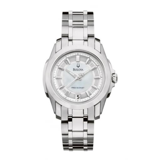 Bulova Stainless Steel Quartz Bracelet Watch with Mother of Pearl Dial