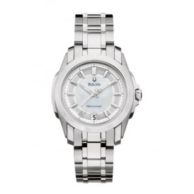 Stainless Steel Quartz Bracelet Watch with Mother of Pearl Dial