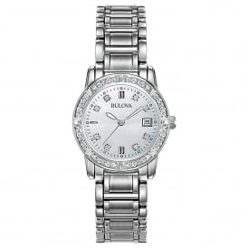 Stainless Steel Watch with Diamond Set Bezel and Dial