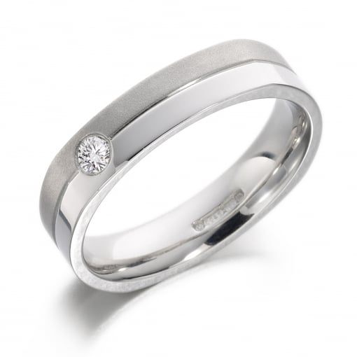 Charles Green 18ct White Gold Diamond Band 0.11ct