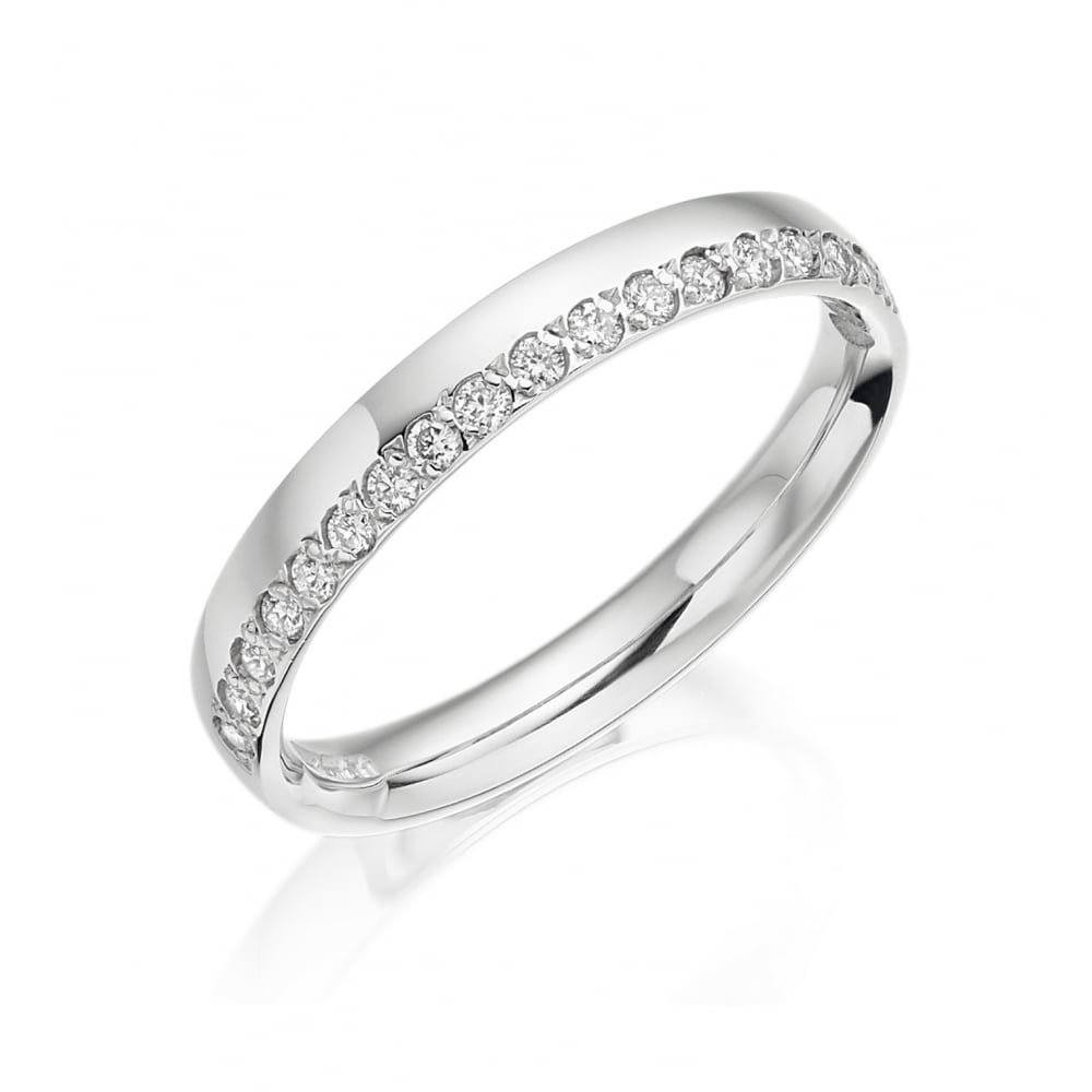 Charles Green 18ct White Gold Diamond Wedding Ring Ladies From