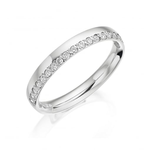 Charles Green 18ct White Gold Diamond Wedding Ring