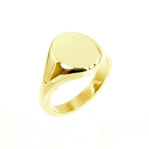 Charles Green 9ct Gold Classic Oval Signet Ring