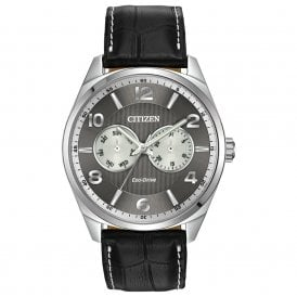 Stainless Steel Grey Dial Strap Watch.