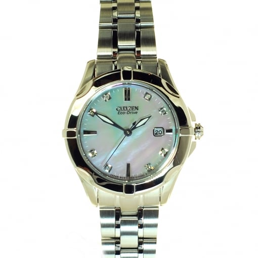 Citizen EcoDrive Citizen Eco-Drive Watch with Mother of Pearl and Diamond Dial