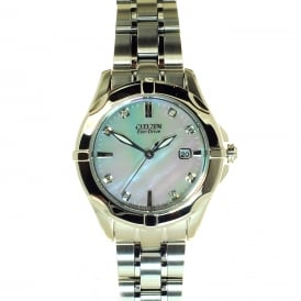 Citizen Eco-Drive Watch with Mother of Pearl and Diamond Dial