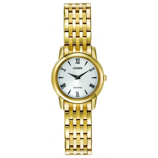 Citizen EcoDrive Ladies Gold Plated Bracelet Watch