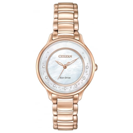 Citizen EcoDrive Ladies Gold Plated Circle of Time Watch