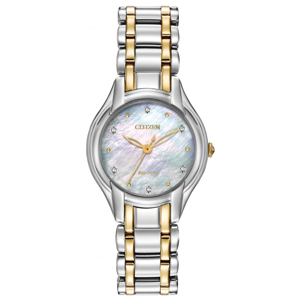 Citizen EcoDrive Ladies Silhouette Watch with Mother of Pearl and ... f191417db