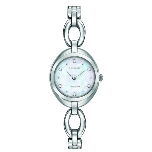 Citizen EcoDrive Ladies Stainless Steel Mother of Pearl Watch