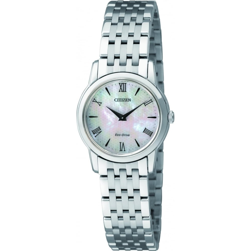 Citizen EcoDrive Ladies Stiletto Watch with Mother of Pearl Dial ... ed720c429
