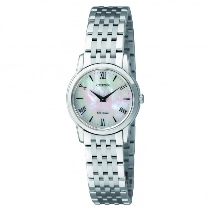 Citizen EcoDrive Ladies Stiletto Watch with Mother of Pearl Dial