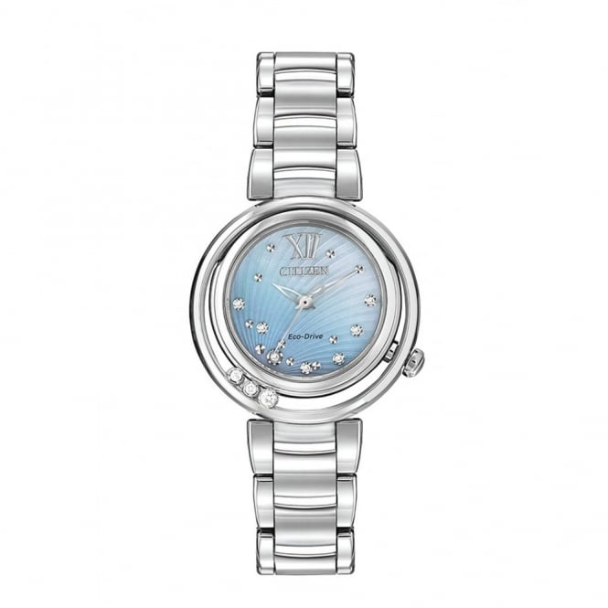 Citizen EcoDrive Ladies Sunrise Watch with Mother of Pearl and Diamond