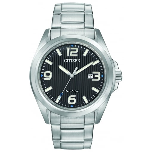 Citizen EcoDrive Men's Bracelet Watch with Black Dial