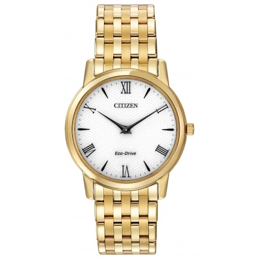 Citizen EcoDrive Men's Gold Plated Stiletto Watch