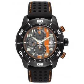 Men's Primo Black and Orange Watch