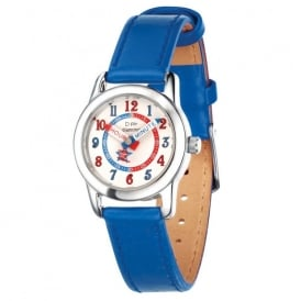 D for Diamond Boys Watch with a Blue Strap