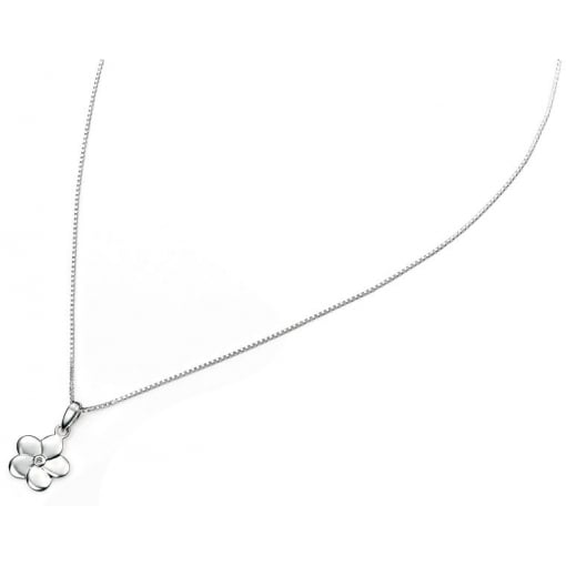 D for Diamond Girl Flower Pendant with Diamond