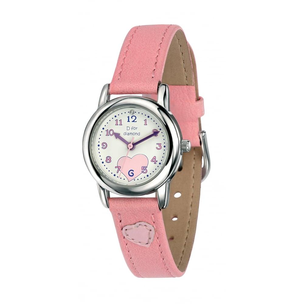 D for Diamond Girls Watch - Kids from Goodwins Jewellers UK