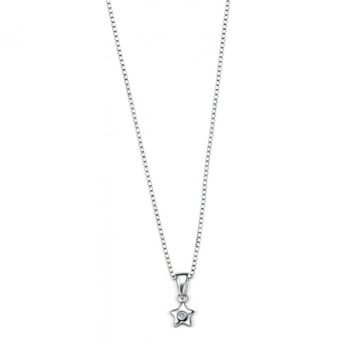 D for Diamond Star Pendant & Chain