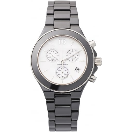 Danish Design Black Ceramic Chronograph Bracelet Watch
