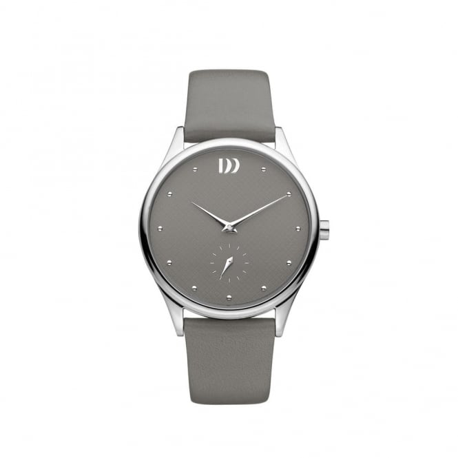 Danish Design Grey Watch with Leather Strap