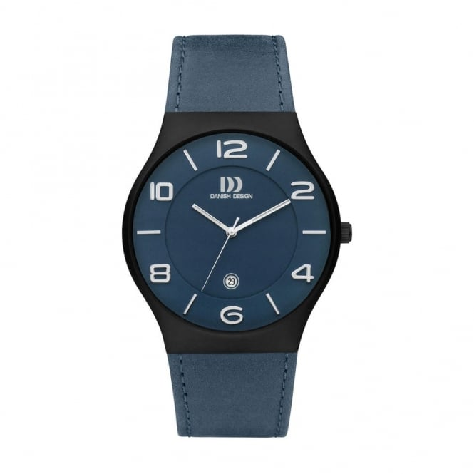 Danish Design Men's Titanium Watch with Blue Dial and Strap