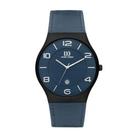 Men's Titanium Watch with Blue Dial and Strap