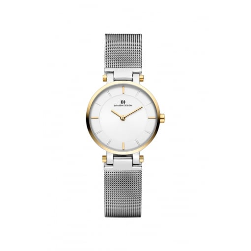 Danish Design Stainless Steel Bracelet Watch with White Dial