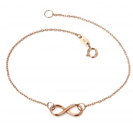 9ct Rose Gold Infinity Bracelet