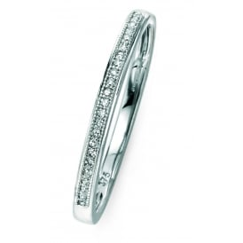 Elements Gold 9ct White Gold Diamond Dress Ring