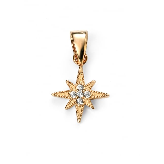 Elements Silver Cubic Zirconia Star Pendant