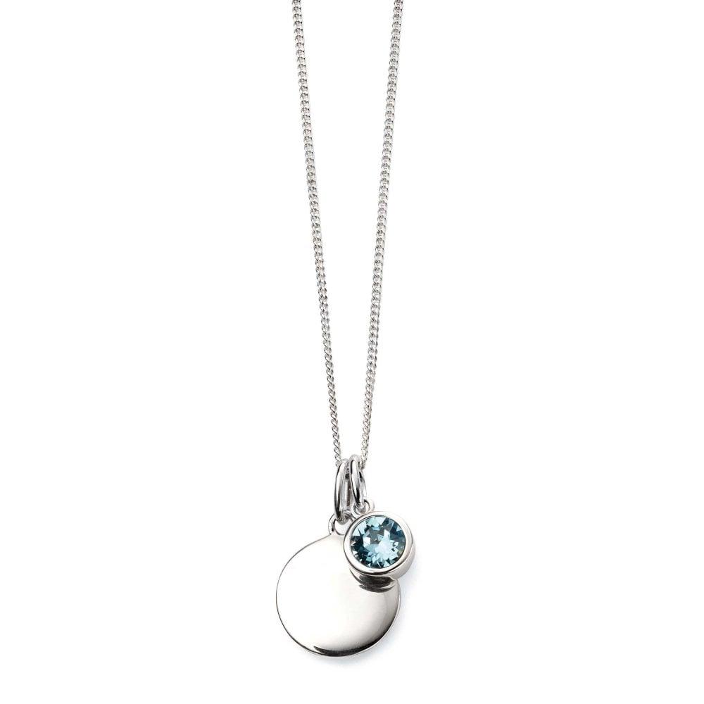 Énfasis Bañera Mal funcionamiento  Elements Silver Silver March Birthstone Swarovski Crystal Pendant & Chain -  Ladies from Goodwins Jewellers UK