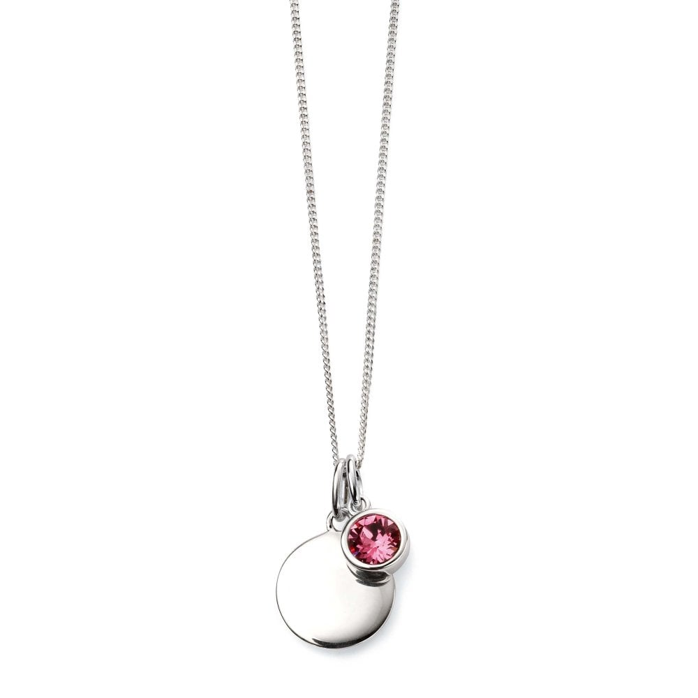 851265172a21 Elements Silver Silver October Birthstone Swarovski Pendant   Chain ...