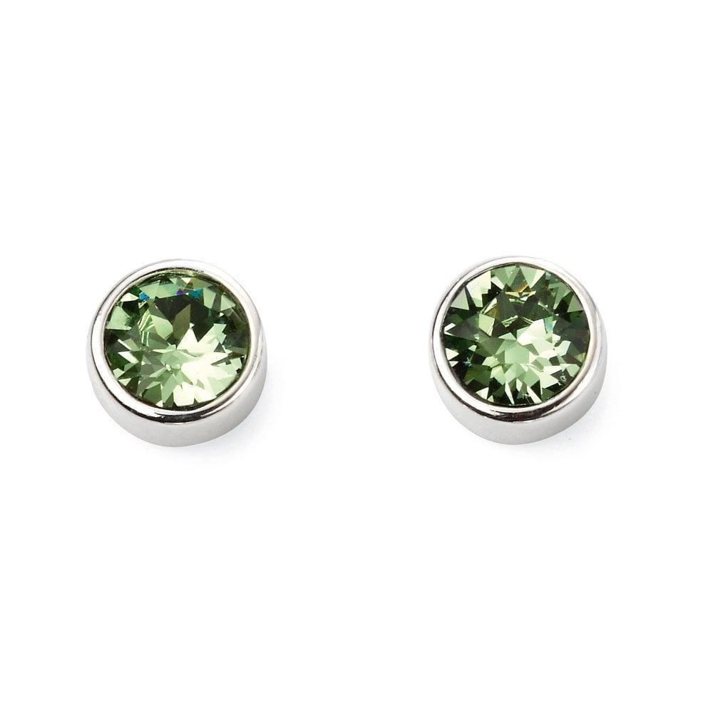 7737457b1 Elements Silver Silver Olive Green Swarovski Crystal Stud Earrings ...