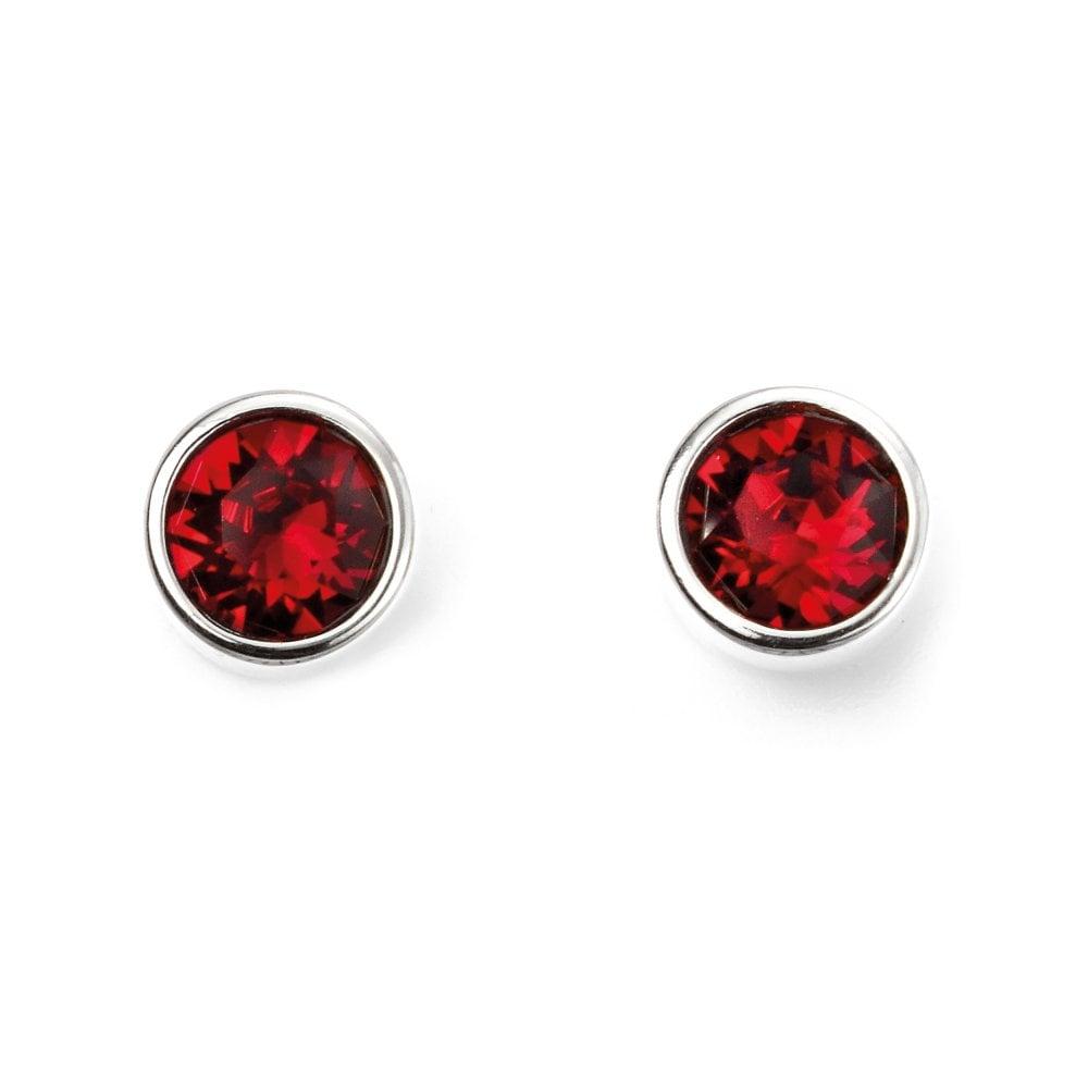5e9fa46e3 Elements Silver Silver & Red Swarovski Crystal Stud Earrings ...